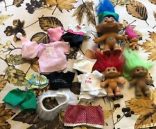 Vintage Troll Lot & Mixed Troll Clothes
