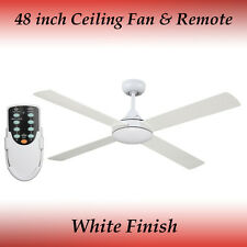 Revolve 48 Inch Ceiling Fan in White with Remote