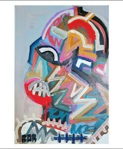 CORBELLIC ORIGINAL CANVAS LOST TIME PORTRAIT CONTEMPORARY ART EXHIBITION COA NR
