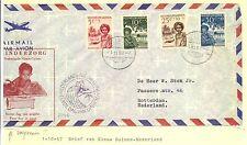 NED NW GUINEA NNG 1957 OMGEVOUWEN  FRAAI EXPL.