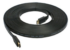 Premium HDMI M-M CABLE 15 FT Flat Gold Plated BLURAY 3D DVD PS3 XBOX LCD HDTV