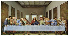 The Last Supper, 1497 Leonardo da Vinci Art Print Religious Jesus Poster 25x44