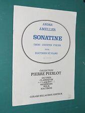 partition Sonatine Trois courtes pièces pour Hautbois et Piano D. WALTER