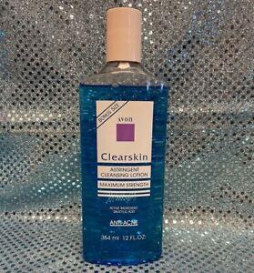 Vintage NOS Avon Clearskin MAXIMUM STRENGTH Astringent, Anti-Acne, 12oz