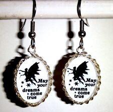 Ohrringe Elfen Sterne Oval Glas Cabochon Weiß Damen Ohrschmuck Modeschmuck