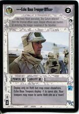 Star Wars CCG Hoth Black Border Echo Base Trooper Officer