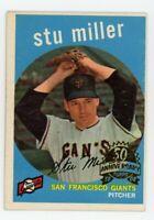 1959 Topps STU MILLER San Francisco Giants #183 BASEBALL CARD - 2008 HERITAGE