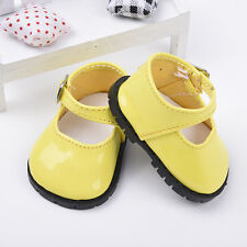New Yellow Doll Shoes for 18 Inch Girl Dolls Clothes Shoes Baby Gifts 7.3cm#