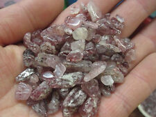 50g 7-9mm Strawberry Quartz Lepidolite rosite chips original specimen
