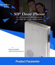 NSEE Q504 12VDC Phone IP Door Intercom Access Control Audio SIP w/ Door Bell PBX