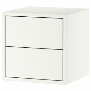 "Ikea EKET Cabinet with 2 drawers white 13 3/4x13 3/4x13 3/4""  FREE SHIPPING"