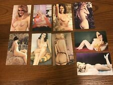 Classic Pin-Up Girls Nude Naked Lot of 9 Modern Postcards