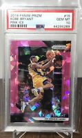 2018 18 KOBE BRYANT LAKERS PANINI PRIZM PINK ICE PSA 10 GEM MINT #15