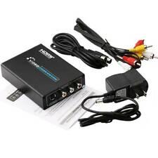 Adaptador Convertidor de Video compuesto de HDMI Soporta PAL/Comité nacional de sistema de televisión para TV Video sistema de Home PS3 videocasete Grabadora Dvd