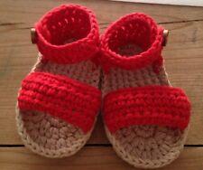 8bcc709bf Sandalia Roja Talla 0 3 Meses Zapato Alpargatas Patucos Bebe Recién Nacido