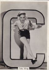 TOBY  WING - godfrey phillps MOVIE star  PIN-UP/CHEESECAKE 1939 cig card