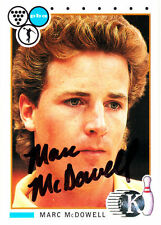 BOWLING Marc McDowell 1991 Kingpins SIGNED CARD AUTOGRAPHED Bowler