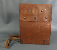 WWII German Army Luftwaffe Pilot Officer Soldier Dispatch Map Leather Case Bag