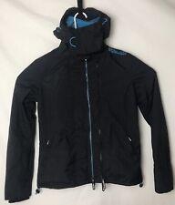 Superdry Japan Tecnical Pop Zip Windcheater Blue Black Light Jacket Size SMALL