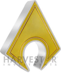 2021 DC COMICS AQUAMAN EMBLEM - 1 OZ. SILVER COIN - OGP COA