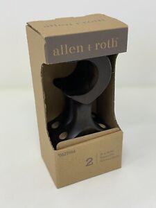 "Allen + Roth Wooden Bracket Supports Espresso Finish #0622946 ~ Fits 1 3/8"" Rod"