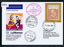 64802) LH FF Palermo Italien - Frankfurt 27.3.2011, So-Karte ab Ordine di Malta