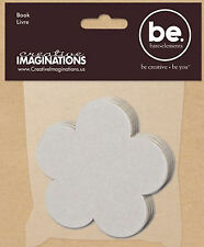 Bare Elements DAISY FLOWER 3.5-INCH CHIPBOARD MINI-BOOK scrapbooking