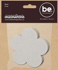 Bare Elements DAISY FLOWER 3.5-INCH CHIPBOARD MINI-BOOK scrapbooking