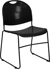 Flash Furniture HERCULES Series 880 lb. Capacity Black Ultra Compact Stack...