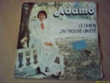 Vinyle 45 tours : Adamo : J'ai trouvé un été.