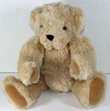 Vermont Teddy Bear Co. Tan Jointed Shaggy Teddy Bear Plush Animal Soft Toy Cute