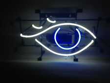 Auge Neonreklame EYE Neon sign Augenarzt  Leuchtreklame Reklame OPTIK Brille neu
