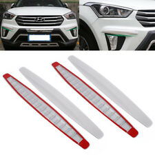 "4pcs 16"" Carbon Fiber Front & Rear Bumper Protector Corner Guard Scratch Sticker"