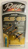 "NEW Rage SS 85 Broadhead 85gr Grain 1.5""+ Cut 3 Pack Free Practice Head R44200"