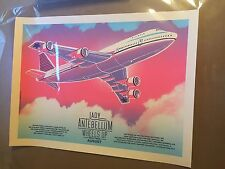 Lady Antebellum by Tim Doyle Nakatomi screen print Wheels Up 18 x 24 Inches Pink