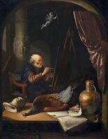 "high quality oil painting 100% handpainted on canvas ""Old Master at Work"""