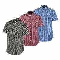 3 X Pack Regatta Mens Rainor Short Sleeve Summer Checked Shirts. Small RRP £35