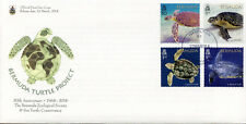 Bermuda 2018 FDC Turtle Project Hawksbill Loggerhead Turtles 4v Cover Stamps