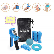 5pcs Hand Grip Trainer Adjustable Gripper Forearm Strength Exerciser Extensor