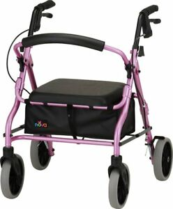 Nova Zoom 18 Foldable Rolling Mobility Walker Rollator - 5 COLOR CHOICE NEW