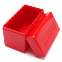 10* Red Capacity Holders Slab Storage Boxes Case Plastic Coin Slabs For PCGS-NGC