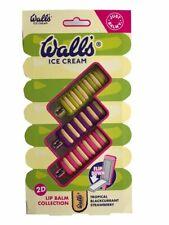 Just Balmy Wall's Lip Balm Set 2D Lip Balm Collection Flip Down Ideal Xmas Gift
