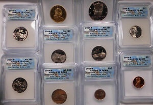 2006 S ICG PR 70 DCAM - 10 of 10 Coin Proof Set First Day of Issue Flag Label