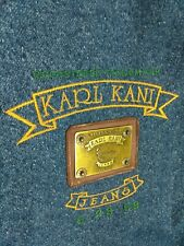 Karl Kani Jeans Vest Metal Plate Made in the USA Vintage Tupac Hip Hop XL Mens