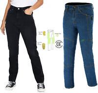 Women Motorcycle jeans Reinforced Ladies Motorbike Protective bike denim trouser