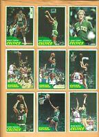 1981-82 Topps Celtics lot of 14 Larry Bird-Parish-McHale-Carr-Maxwell-Archibald+