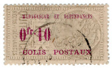 (I.B) France Colonial Revenue : Madagascar Parcel Post 10c OP