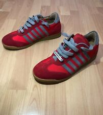 Dsquared2 Red Tessuto Men Size 40 US Size 8.5 Tennis Shoes Sneakers