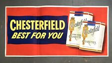 Vintage Original CHESTERFIELD Cigarettes Large Billboard Banner Tobacco Sign 61""