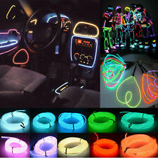 1-5m LED Flash Flexible Neon Light Glow EL Strip Tube Wire Rope Glow Car Decor